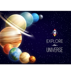 Solar system realistic background vector