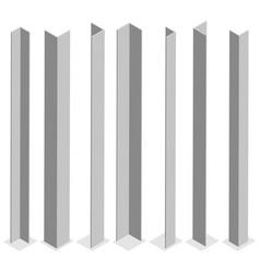 steel corner isometric vector image