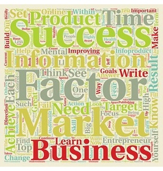 Success Factors Of Wealthy Infoproduct Marketers vector image