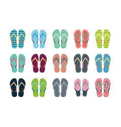 Summer flip flops set vector