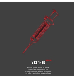 Syringe Flat modern web button and space for your vector