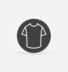 T-shirt in circle icon vector