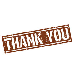 Thank you square grunge stamp vector