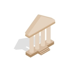 Theatre building icon isometric 3d style vector