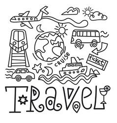 Travel signboard vector