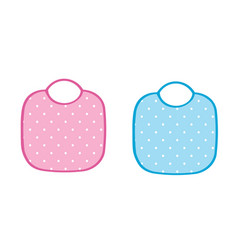 two baby aprons vector image