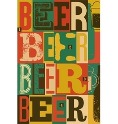Typographical vintage style Beer poster design vector