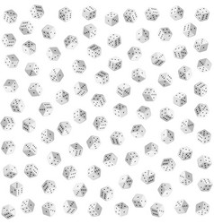 White dice on background seamless pattern vector