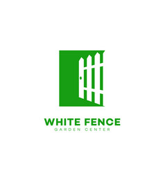 White fence logo vector