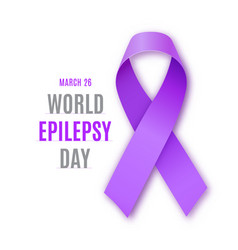 world epilepsy day purple ribbon vector image