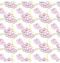 delicious banana and grape healthy fruit vector image