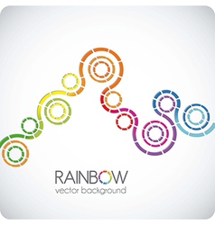 discontinuous circles vector image