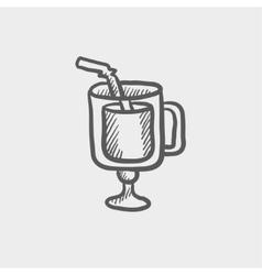 Lime juice sketch icon vector image