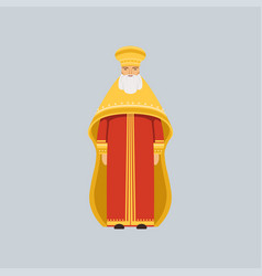 orthodox metropolitan in red soutane vector image