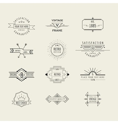 Set of badges and labels elements vector