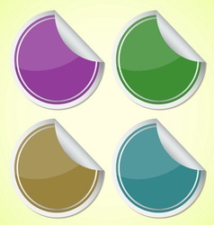 Set of colourful circle stickers vector image