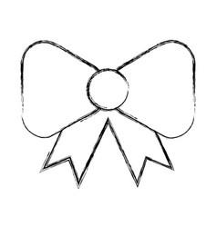 sketch draw bow cartoon vector image