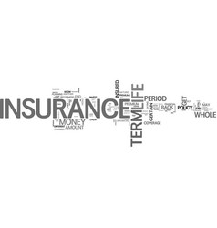 when should you choose term insurance instead of vector image vector image