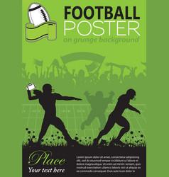 American football poster vector