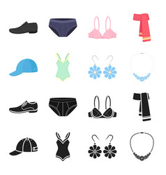 cap earrings necklace swimsuit clothing set vector image vector image