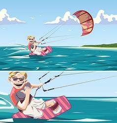 Kitesurfer vector image