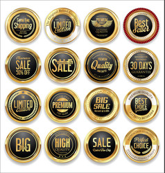 luxury retro badge and labels collection 04 vector image vector image