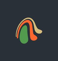 abstract a logo vector image