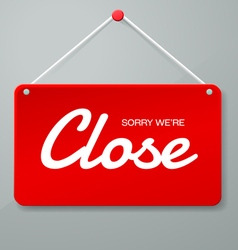 close sign vector image vector image