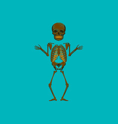 Flat shading style icon human skeleton vector