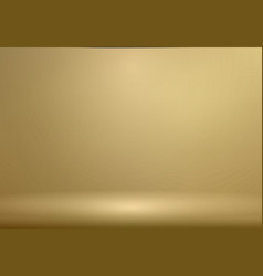 luxury gold studio room background with vector image vector image