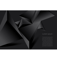 Abstract black background geometrical polygonal fo vector image vector image