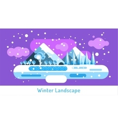 Abstract outdoor winter landscape Trees and vector image