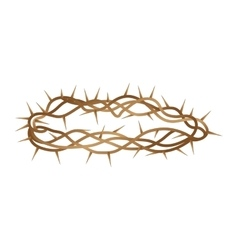 Crown of thorns isolated icon vector image