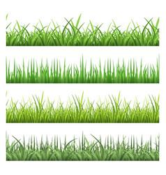 green field grass horizontal seamless vector image