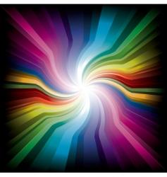 magic radial rainbow light vector image vector image