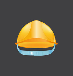 yellow helmet safety construction hat builder vector image vector image