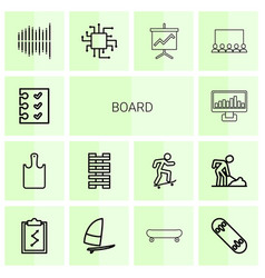 14 board icons vector