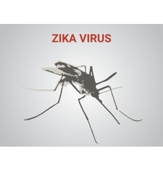 a very dangerous new tropical virus vector image