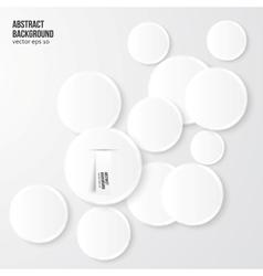 Abstract background Gray Circles vector