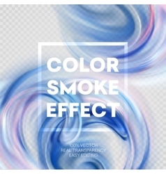 Abstract colored smoke effect background design vector