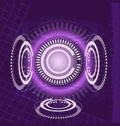 Abstract digital technology purple background vector