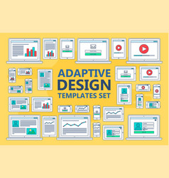 Adaptive web templates vector