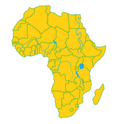 africa political map vector image