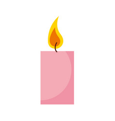 aroma therapy candle spa icon vector image