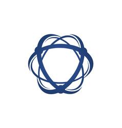 Atom logo design template vector