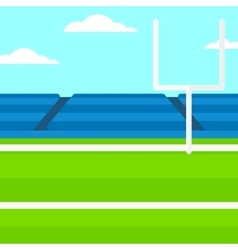 Background of rugby stadium vector image