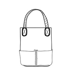bag fashion accessory black and white vector image