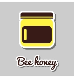 Bank With Honey vector