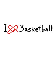 basketball love icon vector image