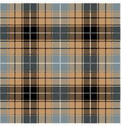 blue and beige tartan plaid seamless pattern vector image